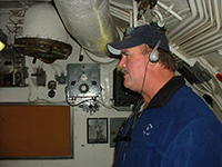 Darrell 'Smitty' Smith touring the USS Pampanito